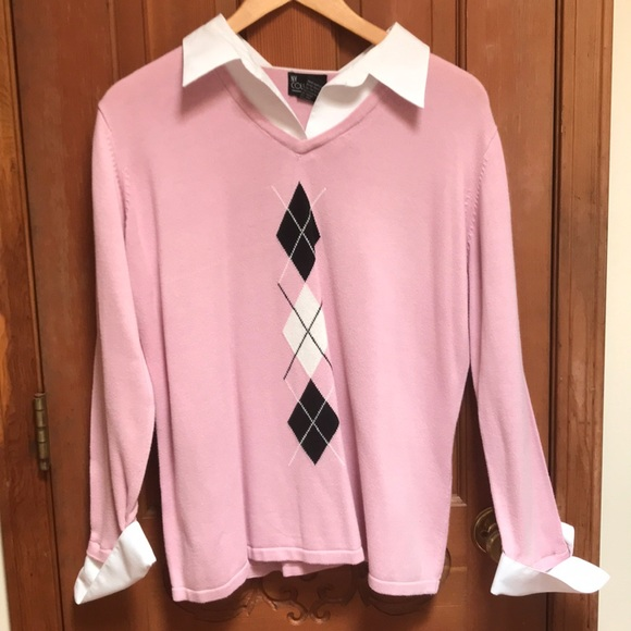 Ny Collection Sweaters Womens Mock Shirt And Sweater Combo Poshmark